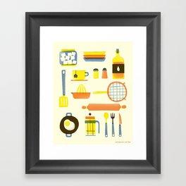 Kitchen stuffs Framed Art Print