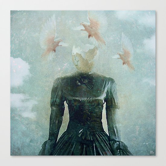 Surrealist nest Canvas Print