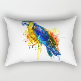 Parrot Watercolor Rectangular Pillow
