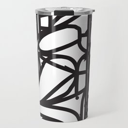 Stained Glass Patter (Black outlines) Travel Mug