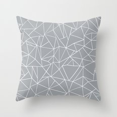 Abstraction Outline Grey Throw Pillow