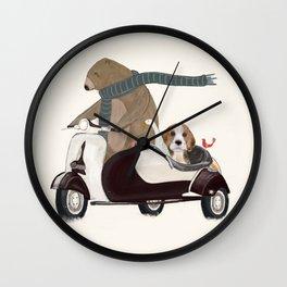 the bear mobile Wall Clock
