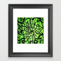 Green Love Framed Art Print