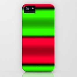 Green & Red Horizontal Stripes iPhone Case