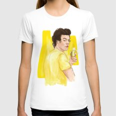 Harry is all yellow SMALL White Womens Fitted Tee