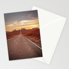The Way West Monument Valley Arizona Sunset American West Landscape Stationery Cards