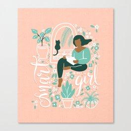 Smart Girl - Cat Canvas Print