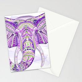 Purple Ethnic Elephant Stationery Cards