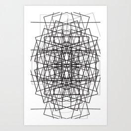 CROSSING_LINES Art Print