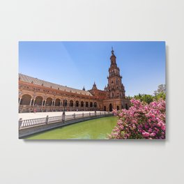 Plaza de España in Seville, Spain Metal Print