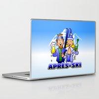 ski Laptop & iPad Skins featuring Après-ski by Cardvibes.com - Tekenaartje.nl