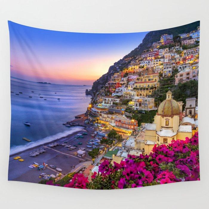 Positano Amalfi Coast Wall Tapestry