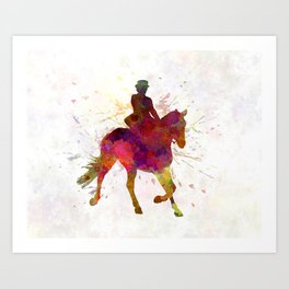 Horse show 03 in watercolor Art Print