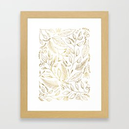 Holiday golden Framed Art Print