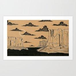 Big Buttes Art Print