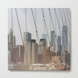 New York from Brooklyn Bridge Metal Print