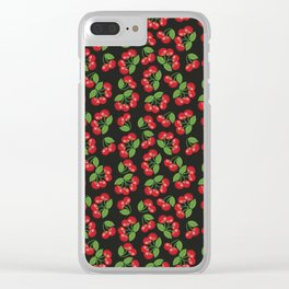 Cherry Pie Clear iPhone Case
