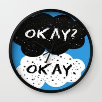 fault in our stars Wall Clocks featuring The Fault in our Stars by MariBee