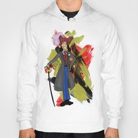 captain hook Hoodies featuring Disneyland Captain Hook - Evil Relations by Joey Noble