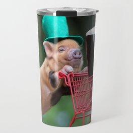 Puppy pig shopping cart Travel Mug
