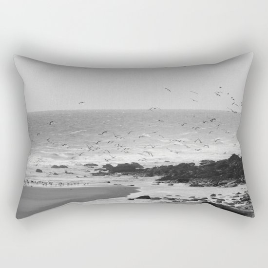 Beach, Calais, France. Rectangular Pillow