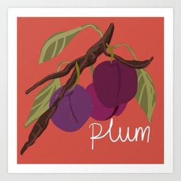 Plum Fruit Tree Art Print