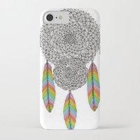 dream catcher iPhone & iPod Cases featuring Dream Catcher by Luna Portnoi