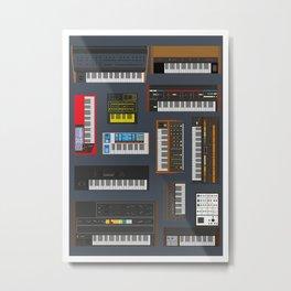 Synths  Metal Print