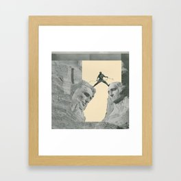 The Study Of Two Heads Framed Art Print