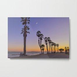 Ventura Moon, California Metal Print