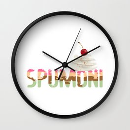 Spumoni With Whipped Cream Cocoa Powder & A Cherry on Top product Wall Clock