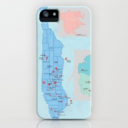 New York City- A Comic Book Tour iPhone Case