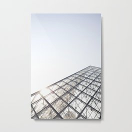 Peak of the Louvre Metal Print
