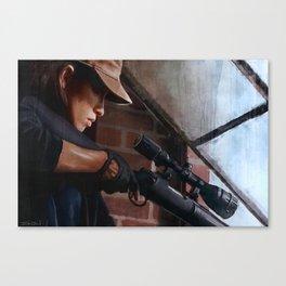 Rosita The Sniper - The Walking Dead Canvas Print