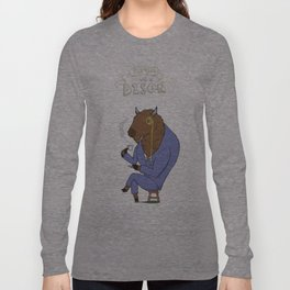 Tea Time with a Bison Long Sleeve T-shirt
