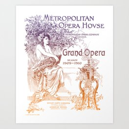 Metropolitan Opera House with Gradient Art Print