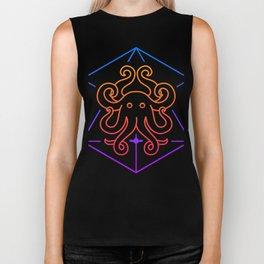 Trippy Psychedelic Sacred Geometry Octopus Biker Tank