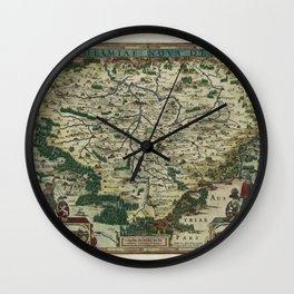 Map Of Czech Republic 1618 Wall Clock
