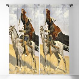 12,000pixel-500dpi - Frederic Remington - The Blanket Signal - Digital Remastered Edition Blackout Curtain