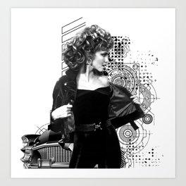 Grease Movie  Olivia Newton-John - John Travolta Art Print