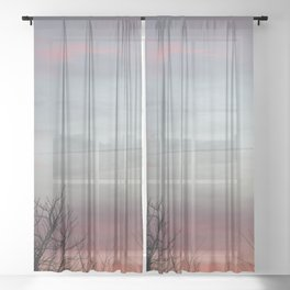 winters day Sheer Curtain