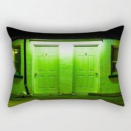 Creepy Motel Doors Rectangular Pillow