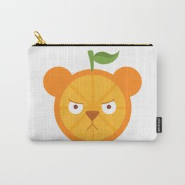 Orange Bear Carry-All Pouch