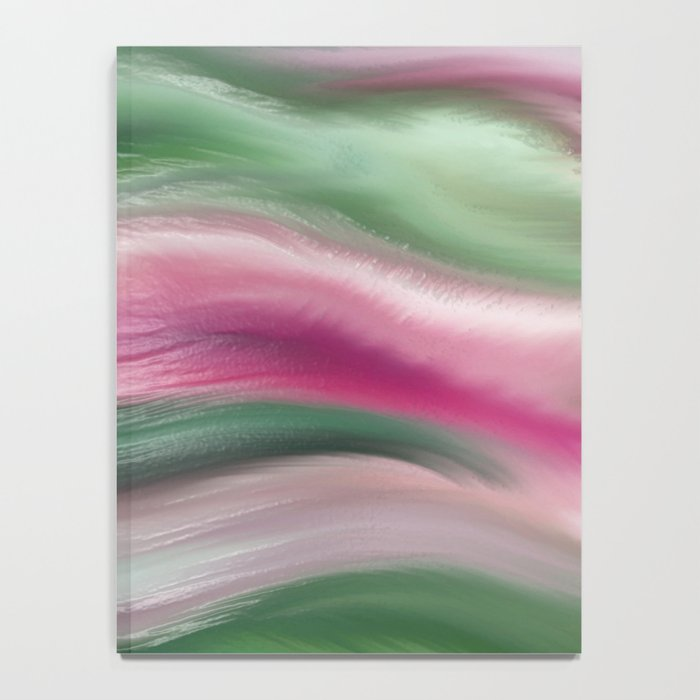 Modern abstract background or texture with flowing wavy lines Notebook