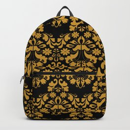 Golden ornament in baroque style Backpack