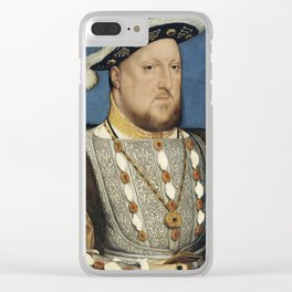 Portrait of Henry VIII of England Clear iPhone Case