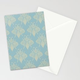 Blue Bees Stationery Cards