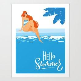 Hello Summer #2 Art Print