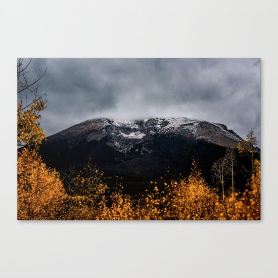 Yellow Tree Moutain Canvas Print