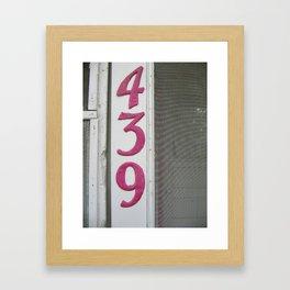 439 Framed Art Print